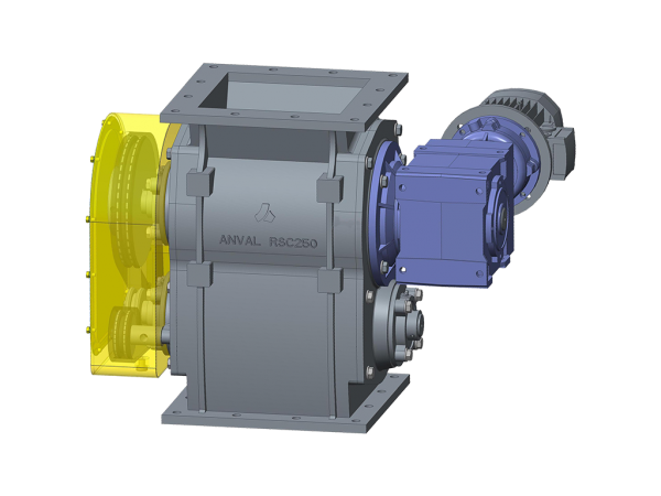 SELF CLEANING DUAL ROTARY VALVE