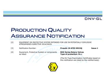 ATEX Product Certificate