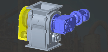Dual Rotor Self Cleaning Valve to handle Sticky, Viscous, Slow or Non-free flowing bulk solids